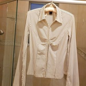 Express long flared sleeved blouse